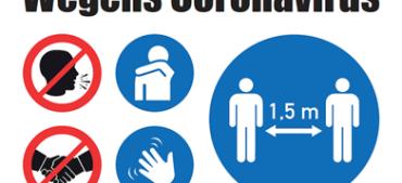Corona maatregel etiket