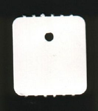 Hangetiket op rol 27x25mm blanco 2.000 stuks