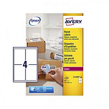 Etiket Avery L7169B 99.1x139mm blockout 400stuks