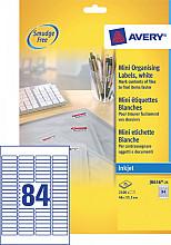 Etiket Avery J8656-25 46x11.1mm wit 2100stuks