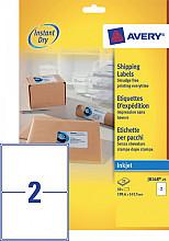 Etiket Avery J8168-25 199.6x143.5mm wit 50stuks
