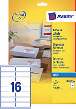 Etiket Avery J8162-40 99.1x33.9mm wit 640stuks