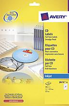 Etiket Avery J8676-25 CD mat wit 50stuks