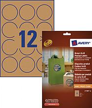 Etiket Avery L7106-20 60mm bruin 240stuks