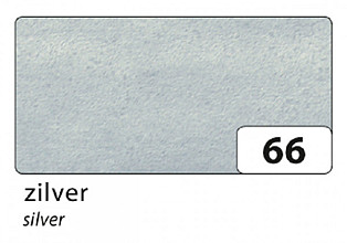 Zijdevloeipapier Folia 50x70cm 20g nr66 zilver set à 5vel