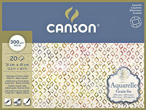 Aquarelblok Canson 31x41cm 20V 300gr fijn gelijmd