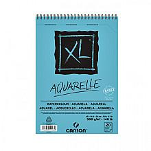 Aquarelblok Canson XL Aquarelle A5 20V 300gr spiraal