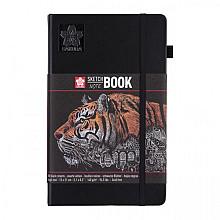 Schets-notitieboek Sakura 13x21cm zwart