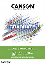 Tekenblok Canson Graduate Dessin A4 160gr 30vel