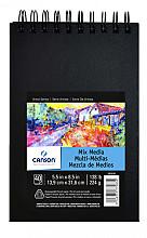 Tekenboek Canson Art 14x21.6cm 40v 224gr spiraal