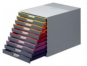 Ladenbox Durable Varicolor 10 laden grijs