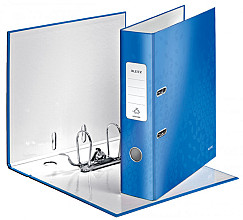 Ordner Leitz WOW 180° A4 80mm karton blauw