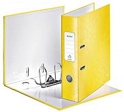 Ordner Leitz WOW 180° A4 80mm karton geel