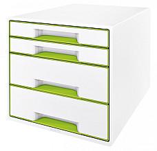 Ladenblok Leitz WOW Cube 4 laden wit/groen