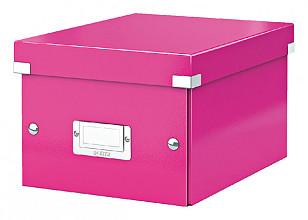 Opbergbox Leitz WOW Click & Store 200x148x250mm roze