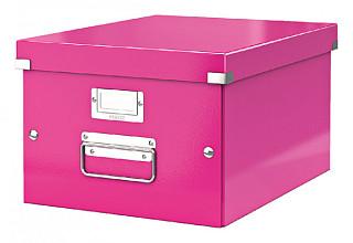 Opbergbox Leitz WOW Click & Store 281x200x370mm roze