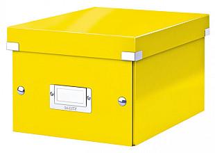 Opbergbox Leitz WOW Click & Store 220x160x282mm geel