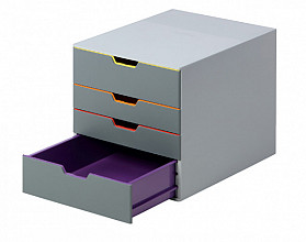 Ladenbox Durable Varicolor 4 laden grijs