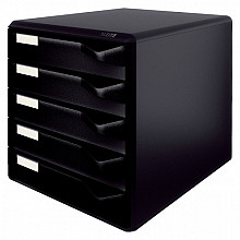 Ladenblok Leitz 5293 5 laden zwart