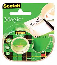 Plakband Scotch Magic 810 12mmx10m onzichtbaar  + afroller