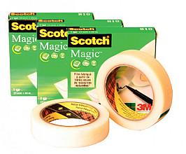 Plakband Scotch Magic 810 12mmx33m onzichtbaar mat