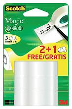 Plakband Scotch Magic 19mmx15m 2+1 gratis onzichtbaar