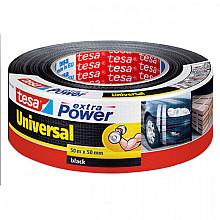 Plakband Tesa 50mmx50m extra Power zwart