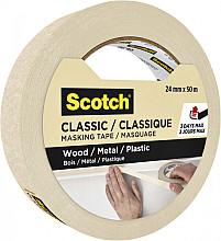 Afplaktape Scotch Classic 24mmx50m beige
