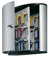 Sleutelkast Durable 1952 aluminium 36haken 302x280x118mm