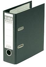 Ordner Elba Rado Plast A5 staand 75mm pvc zwart
