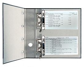 Bankordner Leitz A4 75mm 2 mechanieken karton zwart