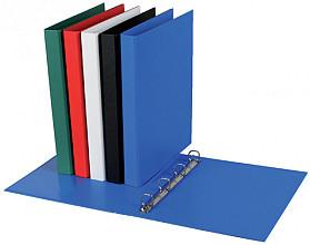Ringband Quantore A4 4-rings D-mech 20mm PP blauw