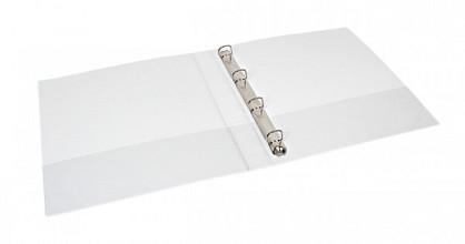 Presentatieringband Quantore A4 4-rings D-mech 15mm wit