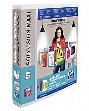 Presentatieringband Oxford Polyvision Maxi A4 XL 4-rings D-mech 30mm transparant