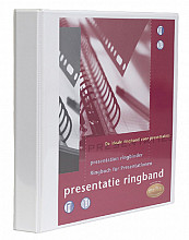 Presentatieringband Multo A4 23-rings O-mech 32mm wit