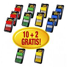 Indextabs 3M Post-it 680 25.4x43.2mm 10+2 gratis assorti