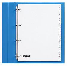 Tabbladen Quantore 4-gaats 1-31 genummerd wit PP