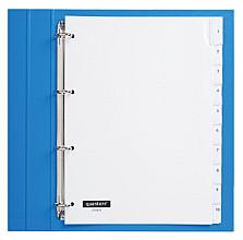 Tabbladen Quantore 4-gaats 10-delig met venster wit PP