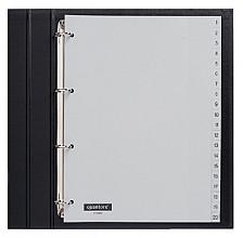 Tabbladen Quantore 4-gaats 1-20 genummerd grijs PP