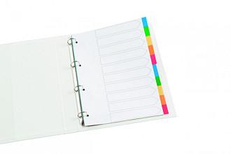 Tabbladen Quantore 4-gaats 10-delig wit karton