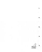 Tabbladen Kangaro 4-gaats PK405C 1-5 genummerd wit karton