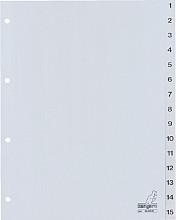 Tabbladen Kangaro 4-gaats G415C 1-15 genummerd grijs PP