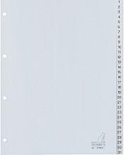 Tabbladen Kangaro 4-gaats G431C 1-31 genummerd grijs PP