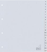 Tabbladen Kangaro A4 4-gaats 20-delig A-Z breed PP grijs