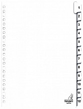 Tabbladen Kangaro 23-gaats PK412CM 1-12 genummerd karton