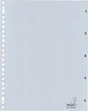 Tabbladen Kangaro 23-gaats G405CM 1-5 genummerd grijs PP