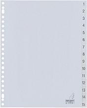 Tabbladen Kangaro 23-gaats G415CM 1-15 genummerd grijs PP