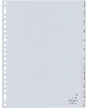 Tabbladen Kangaro 23-gaats G412JM 12-delig maanden grijs PP