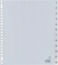 Tabbladen Kangaro 23-gaats G412CM-B 1-12 genummerd breed PP