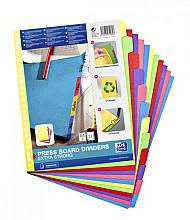 Tabbladen Oxford A4+ 23-gaats 12-delig karton kleur